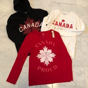 Girls Canada Day bundle!  Two tops one hoodie